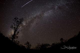 Meteor Over Milkyway