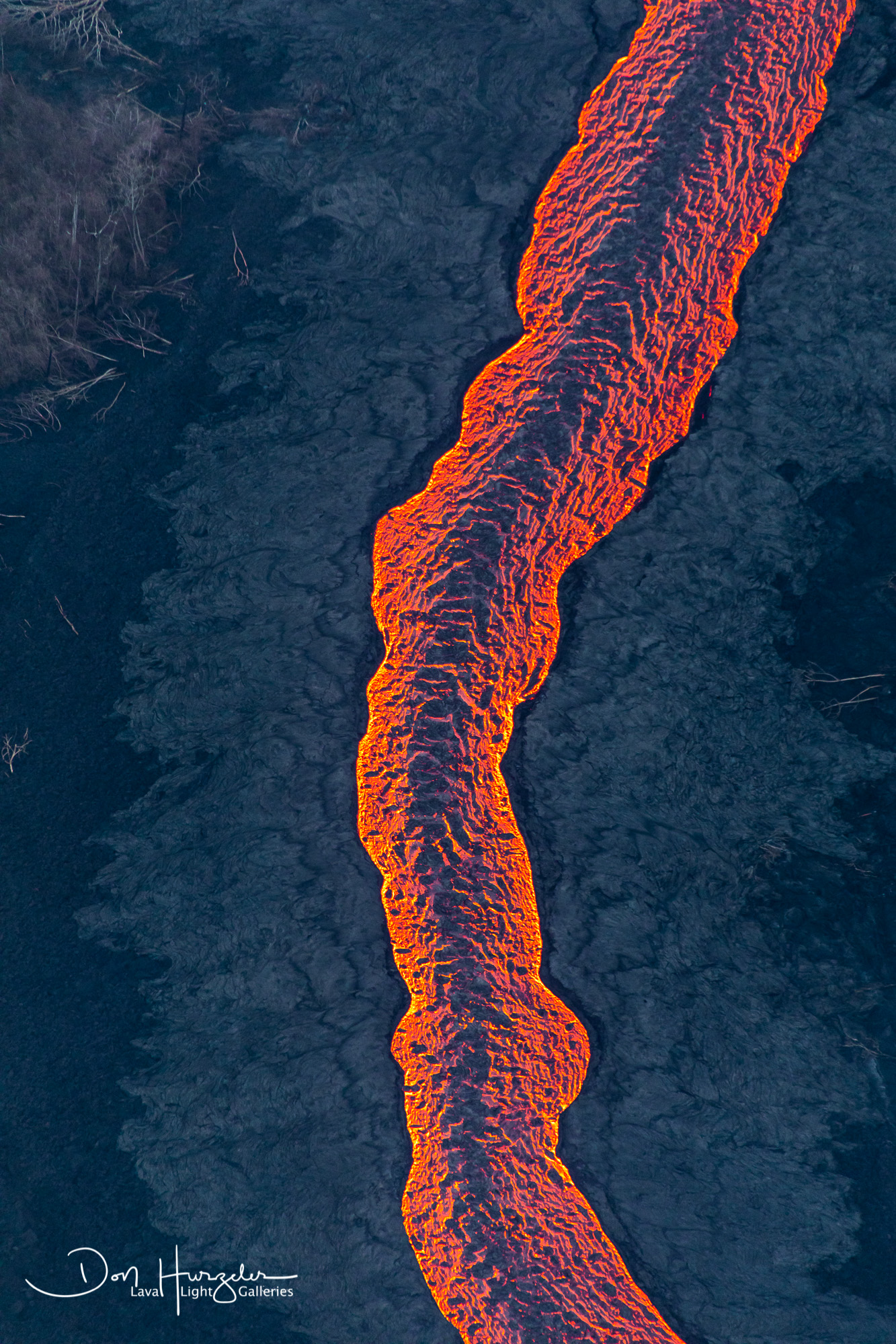 More of the lava river.
