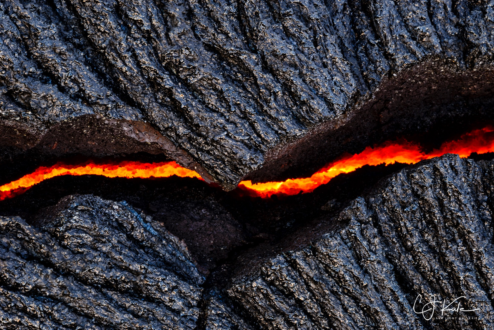 Lava crack...can be printed as a horizontal or a vertical.