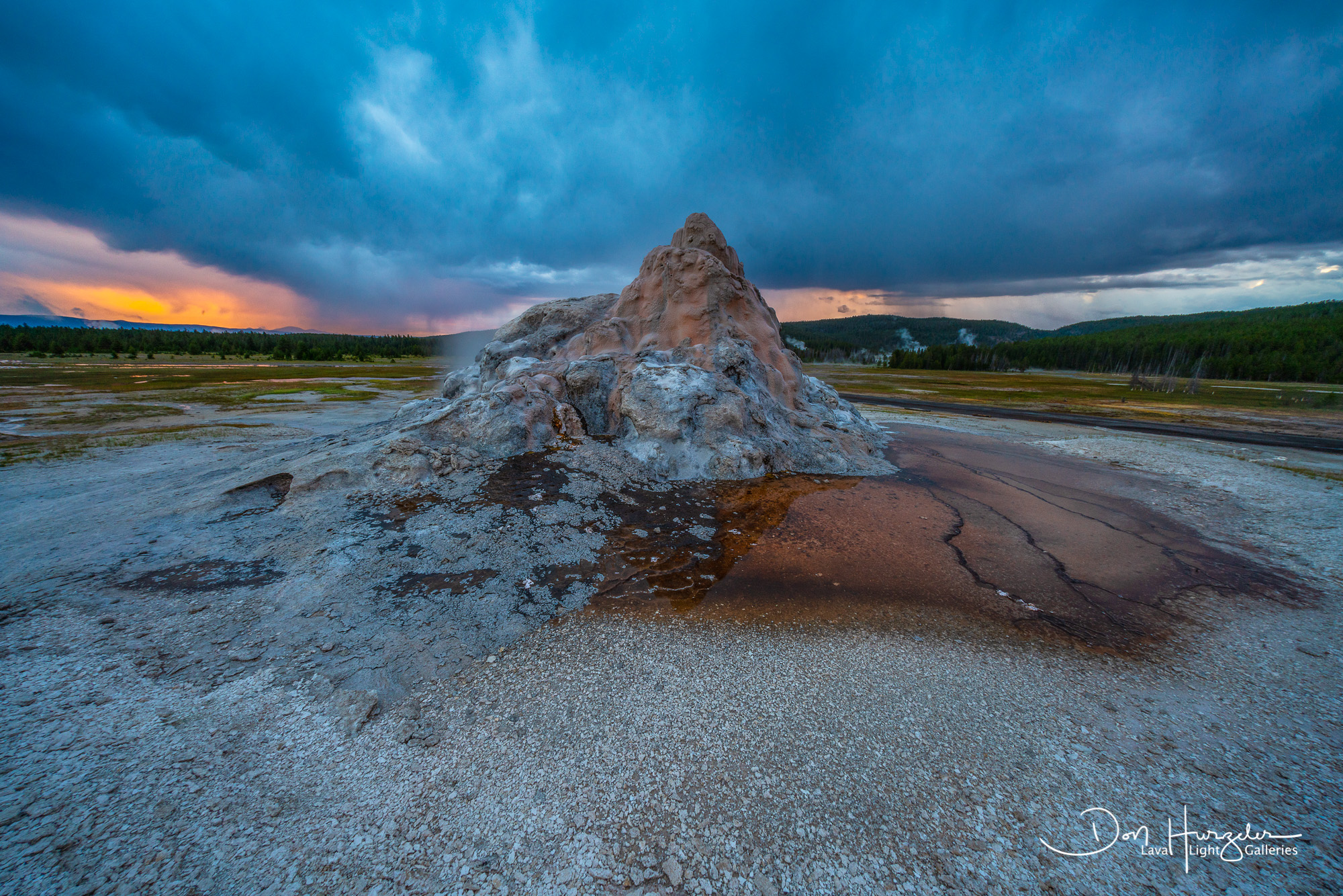 White Dome Geyser Sunrise