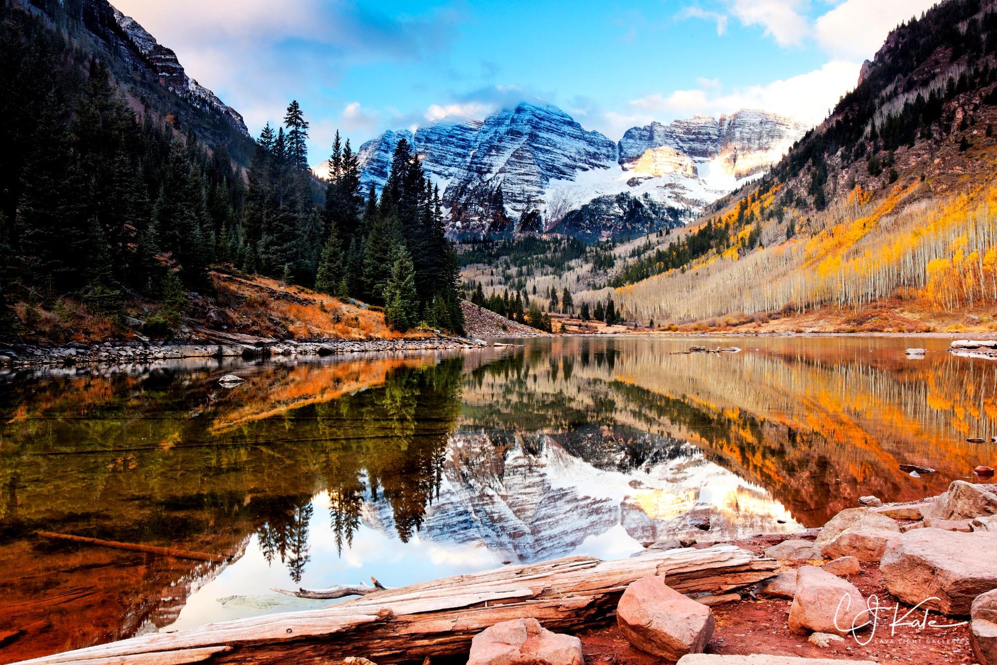 Maroon Bells, Colorado Rockies.