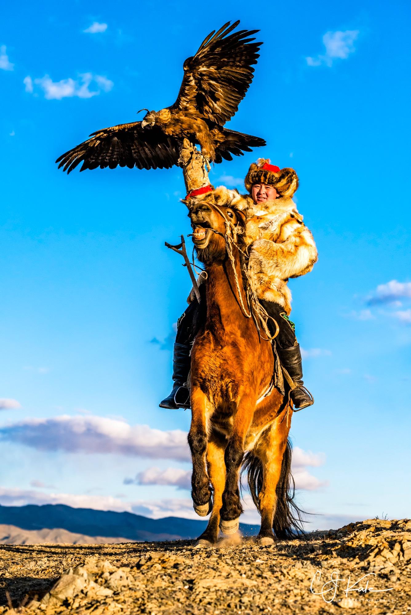 Eagle hunters of Mongolia.
