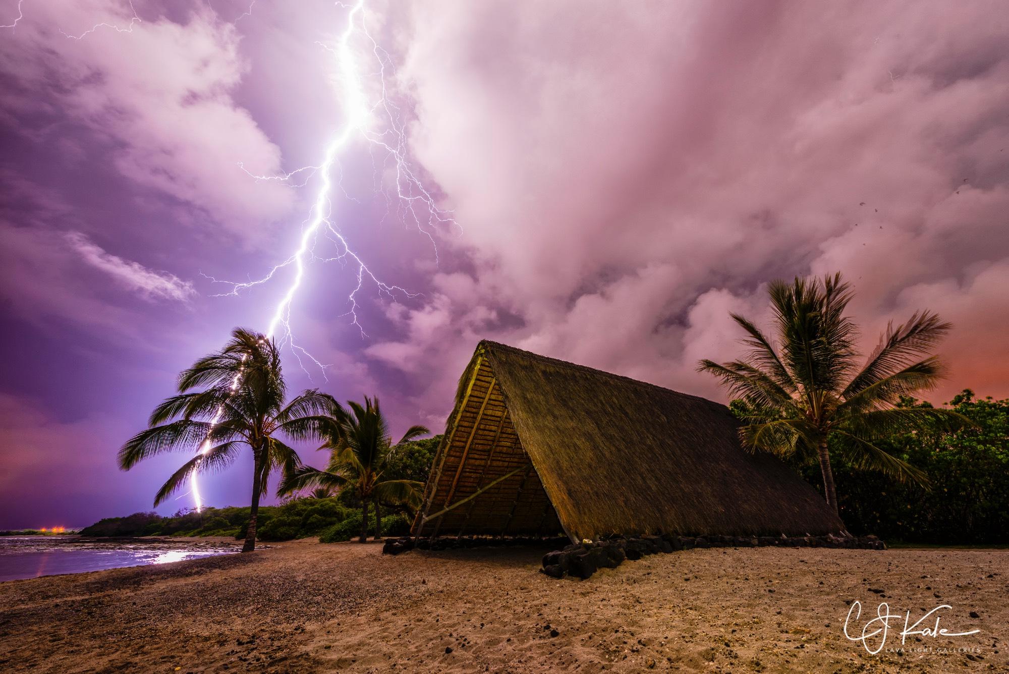 Epic shot of lightning at Koloko.