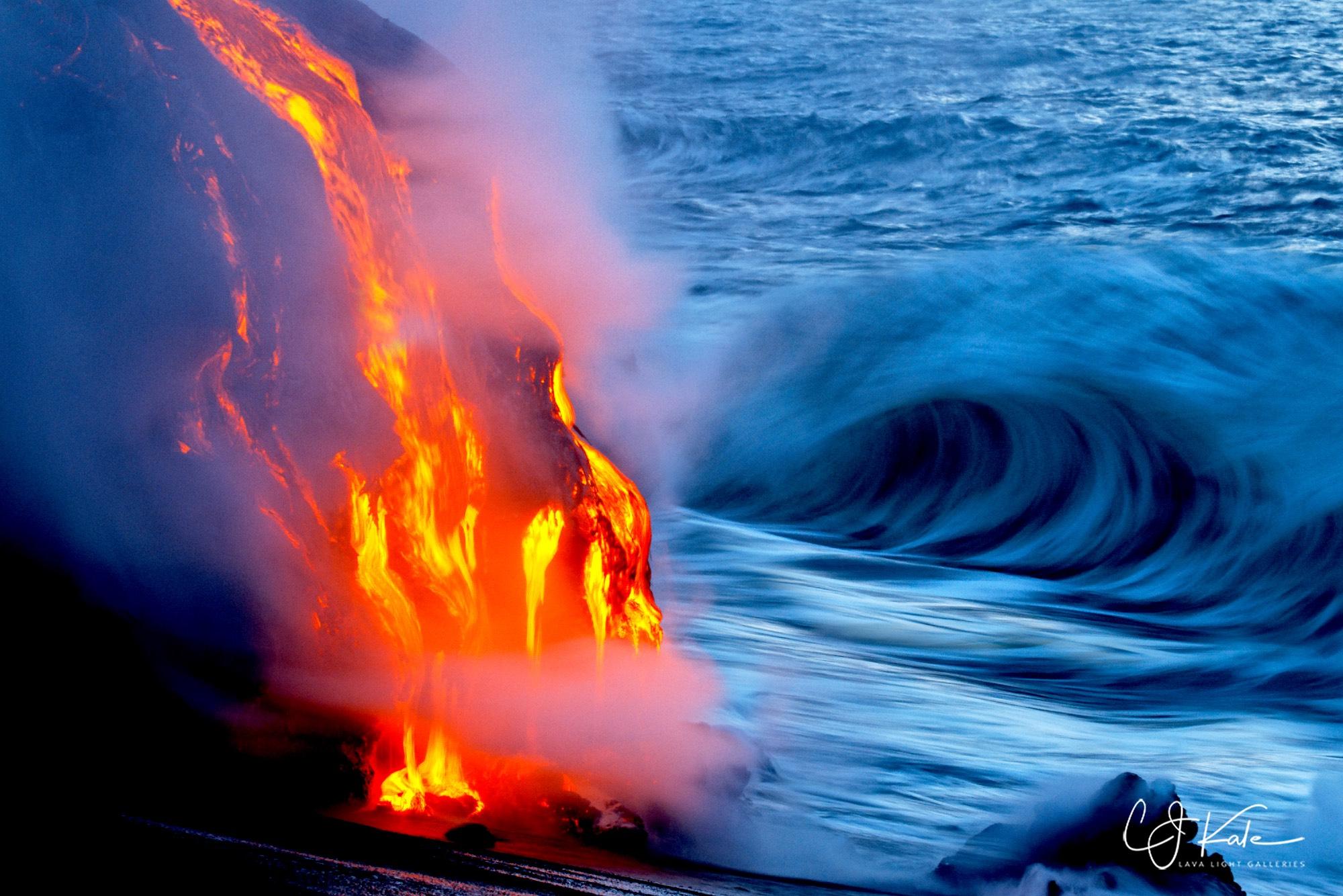 Ocean entry.